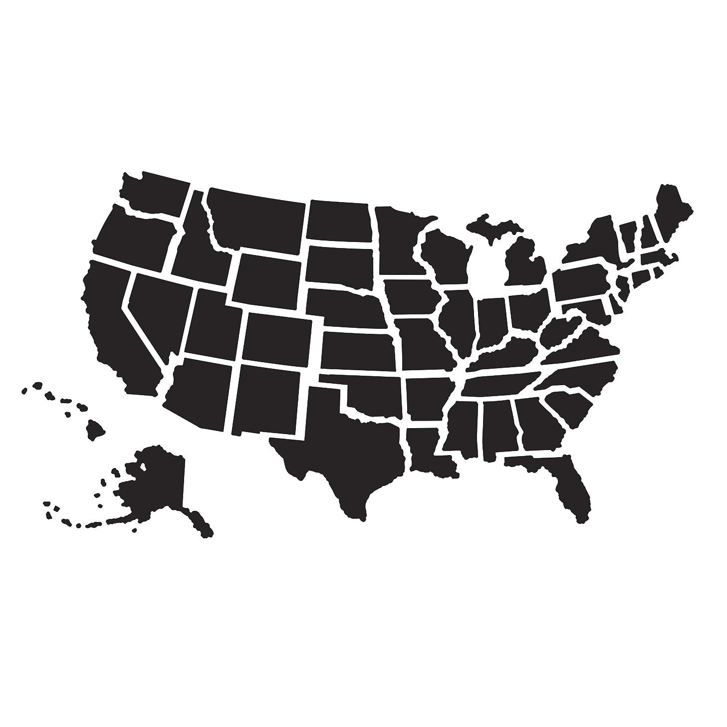 Darice Embossing Folder: U.S. Map, 4.25 x 5.75 inches