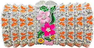Evening Bag For Ladies Diamante Sequin Womens Purses Luxury Clutch Chain Glitter Wedding Handbags Floral