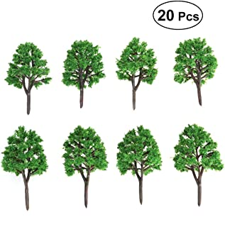 NUOLUX 20pcs Model Trees Landscape 1:150 7.5cm Model Train Scenery Landscape N Scale