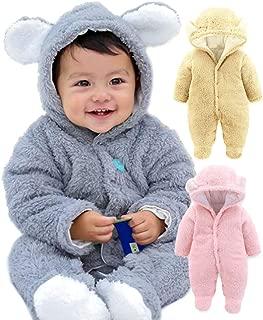 【 ふわもこ暖か 】monoii 赤ちゃん 着ぐるみ くま ロンパース あったか ベビー 服 ハロウィン 衣装 クマ カバーオール 足つき くまさん 仮装 コスプレ d451