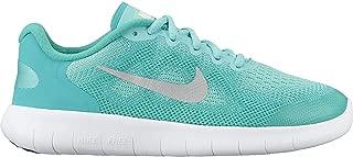 Girl's Free RN 2017 (GS) Running Shoe Aurora Green/Metallic Silver/Clear Jade Size 6.5 M US