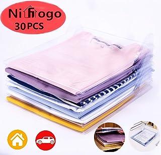 Nifogo Organizador de Camisetas, Ropa, Armario,Camiseta Carpeta,Resistente y Reciclable. Antihumedad y Antiarrugas,Tamaño Normal (30 pack)