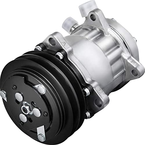 new arrival Mophorn ABPN83304052 4509 4510 CO 4510PC Universal Air Conditioner A/C new arrival Compressor SD508 for 2011-2014 Freightliner MCL6.7L 2012-2014 outlet sale Mack GU810.8L 12.8L Sanden Pulley AC Compressor online sale