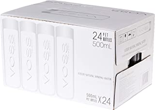Voss PET Natural Mineral Water, 500ml, (Pack of 24)