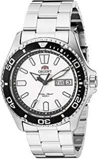 Orient Japanese Automatic Sport Watch with Stainless Steel Strap, Silver, 20 (Model: SAA0200CW9)