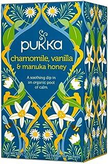 PUKKA Organic Chamomile Vanilla and Manuka Honey, 20 Herbal Tea Sachets, 32g