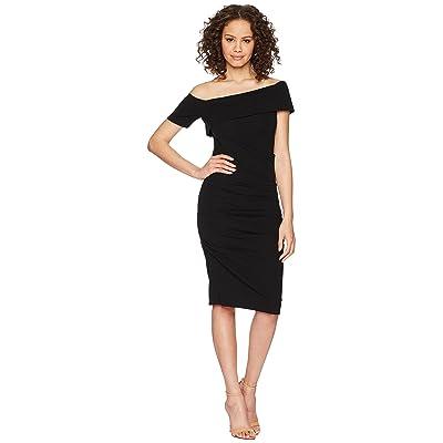Nicole Miller Off Shoulder Dress (Black) Women