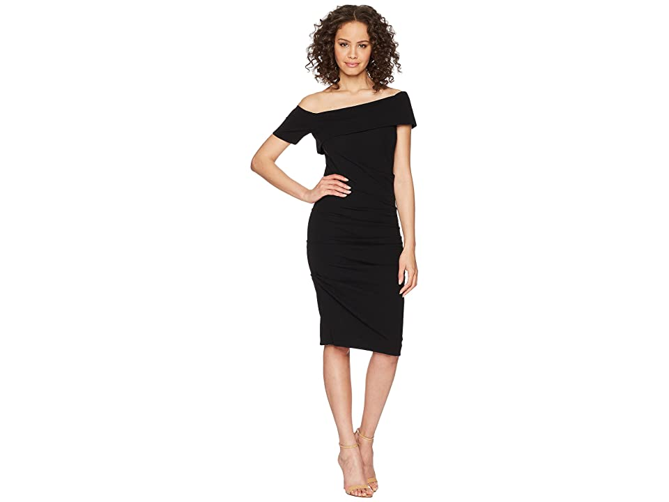Nicole Miller Off Shoulder Dress (Black) Women