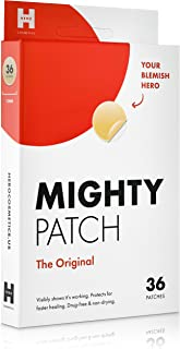 Mighty Patch Original - Hydrocolloid Acne Pimple Patch Spot Treatment (36 count) for Face, Vegan, Cruelty-Free, 50% Better Absorption