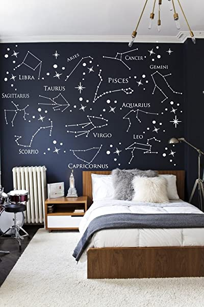 BeStickerShop Wall Decal Zodiac Constellation Virgo Decal Leo Decal Pisces Decal Gemini Decal Aquarius Decal A16