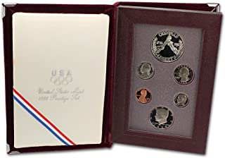 1988 US Mint Prestige Proof Set Original Government Packaging with Silver Olympic Dollar Proof