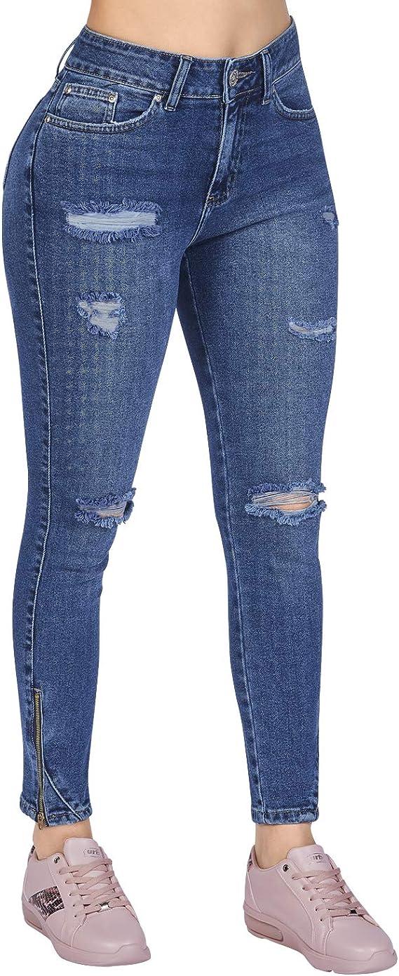 Cklass 200 76 Jeans Deslavados Strech Dama Entubados 050 Amazon Com Mx Ropa Zapatos Y Accesorios