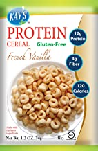 Kay's Naturals Protein Breakfast Cereal, French Vanilla, Gluten-Free, Low Carbs, Low Fat, Diabetes Friendly All Natural Flavorings, 1.2 Ounce (Pack of 6)