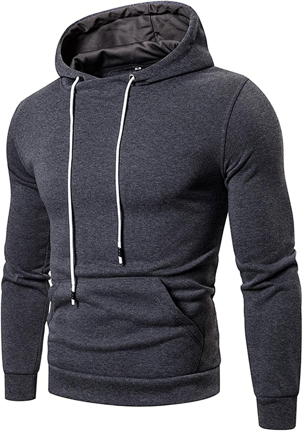 Men Hooded Sweatshirts Casual Sports Solid Blouses Hoodies Pullover Yoga Workout Long Sleeve Tops Men's Sweaters