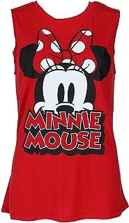 Disney Women's Minnie Mouse Sleeveless Tee Shirt Top