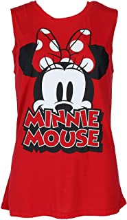 Disney Women's Minnie Mouse Sleeveless Tee Shirt Top