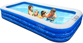 """LADER Family Inflatable Swimming Pool, 150"""" X 72"""" X 22"""" Full-Sized Inflatable Lounge Pool for Baby, Kiddie, Kids, Adult, I..."""