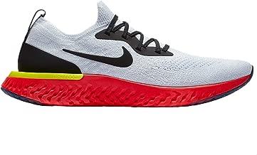 Nike Men's Epic React Flyknit Running Shoes (True White/Black, 9 D(M) US)