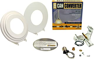 Light Recessed Beveled/Flat Canopy Converter R56-WHTFB Conversion Kit for 5