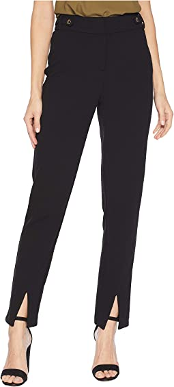 Crepe Pants w/ Slit Detail