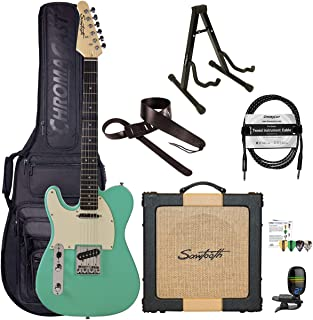 Sawtooth Classic ET60 Left Handed Surf Green Guitar Players Pack