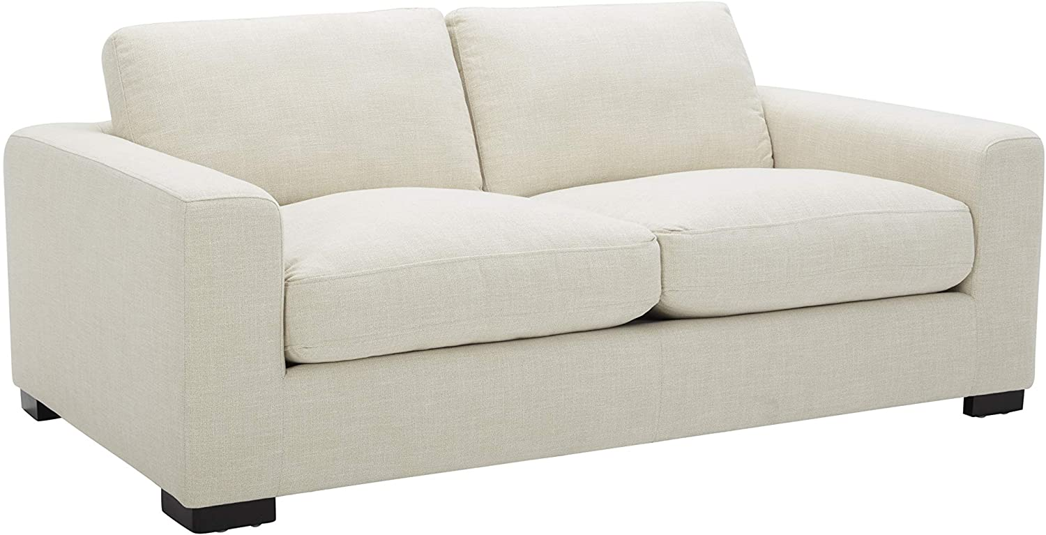 Amazon Brand - Stone & Beam Westview Extra-Deep Down-Filled Loveseat Sofa Couch, 75.6