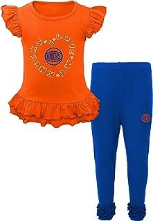 NBA New York Knicks Kids Team Love Ruffle shirt & Pants Set, Medium(5-6), Blue