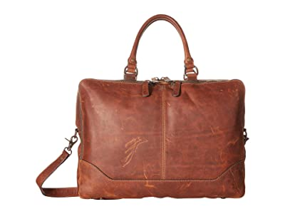 Frye Logan Work Bag (Cognac Antique Pull Up) Bags