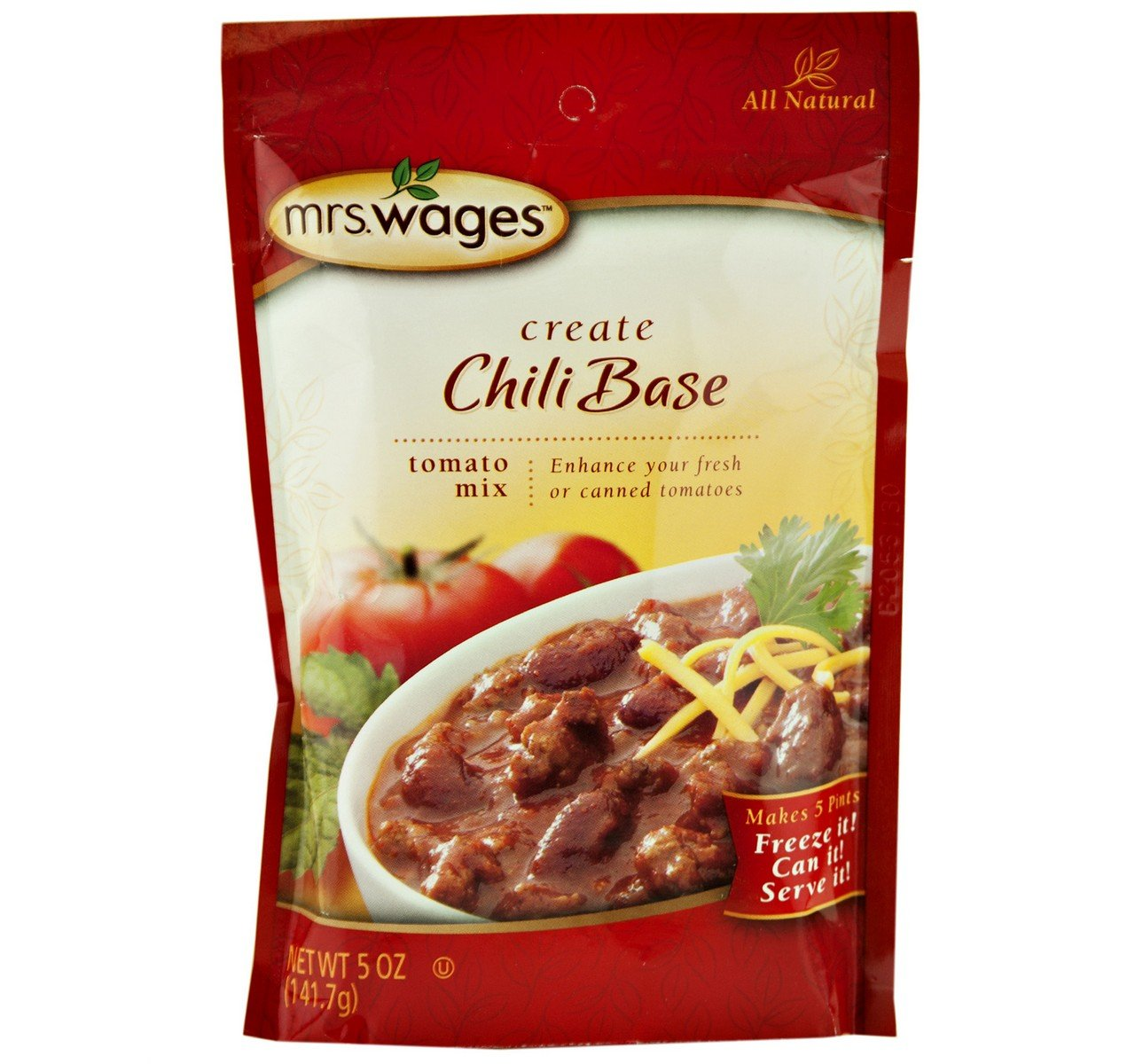 Mrs. Wages New color Chili Base Tomato Seasoning Mix 5 Pouch Oz. of New mail order Case