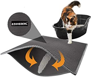 Cat Litter Box Mat Litter Double-Layer Design Waterproof Urine Proof Material, Easy Clean and Floor Carpet Protection Best...