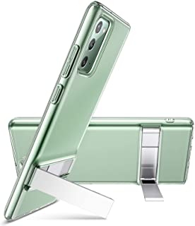 ESR Metal Kickstand Case for Samsung Galaxy Note 20 Back Cover Case [Crystal-Clear Slim Soft Silicone] [Vertical & Horizon...