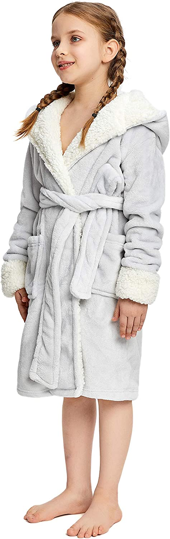 NEWCOSPLAY Unisex Kids Unicorn Plush and Soft Fleece Bathrobe
