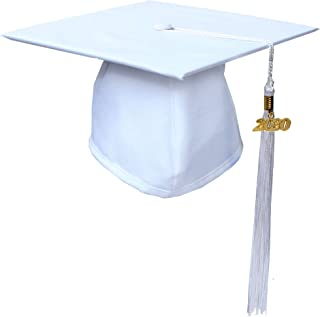 Unisex Matte Graduation Cap and Tassel, Free 2020 Year Charm, Available in 12 Colors