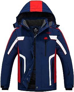 Wantdo Men`s Mountain Waterproof Ski Jacket Windproof Warm Winter Rain Coat