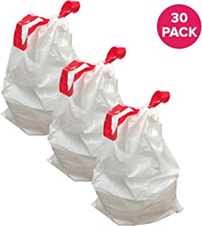 Think Crucial 30PK Durable Garbage Bags Fit Simplehuman Size E, 20L / 5.2 Gallon