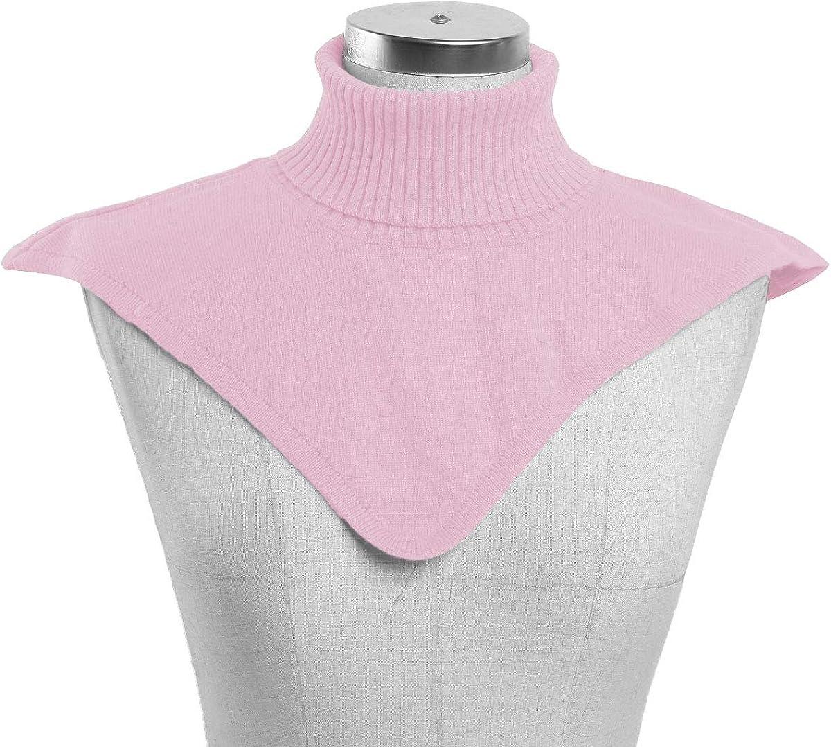 CHICTRY Krageneinsatz Damen Warm Blusenkragen Einsatz Fake Kragen Wolle Stehkragen Einsatz Kleidung Zubehör für Pullover Shirt Rosa