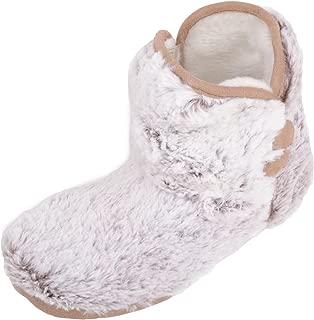 ABSOLUTE FOOTWEAR Womens Slip On Warm Faux Fur Slipper Bootee/Booties