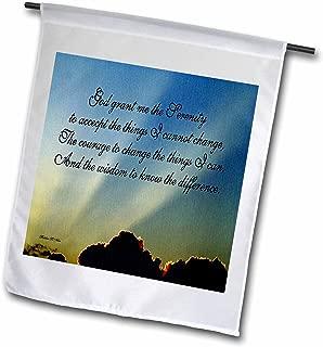 3dRose fl_9200_1 The Serenity Prayer Garden Flag, 12 by 18-Inch