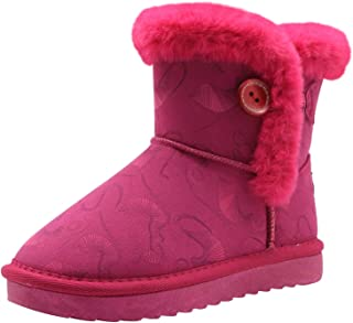Apakowa Kids Girls Warm Winter Bailey Button Snow Boots (Toddler/Little Kid)