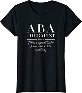Womens Aba Therapist Funny Teacher Gift Autism Therapy Appreciation