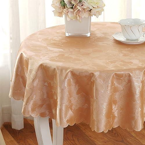 Unbekannt %Tablecloth Europ che Runde Tischdecke - Familientisch - Wasserdicht und Anti- - Hotel (Farbe   E, Größe   Round- 280cm)