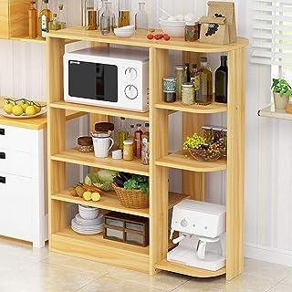 Équipement pour la maison Support de four à micro-ondes Cuisine en bois Support de four à micro-ondes Support de four à mi...
