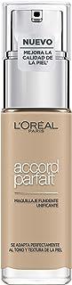LOréal Paris Accord Parfait Base de maquillaje acabado natural con ácido hialurónico tono piel claro 2N 30 ml