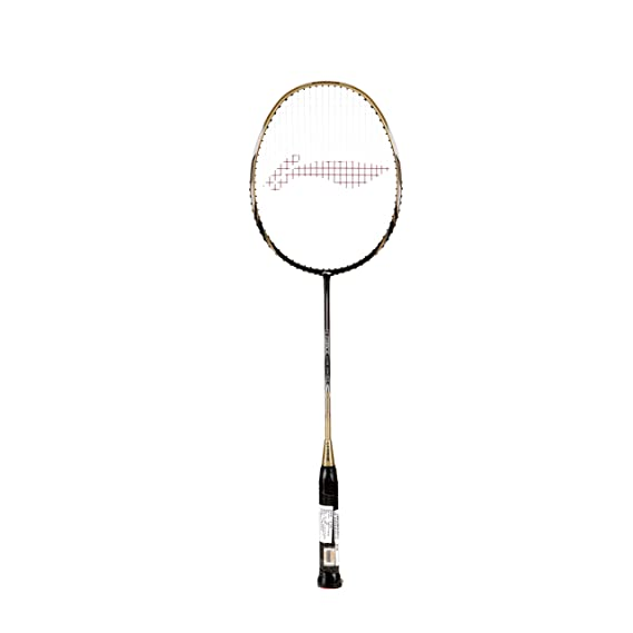 Li-Ning G-Force Lite 3400i Badminton Racquet (Strung), S2 Grip Size, (Black/Gold)