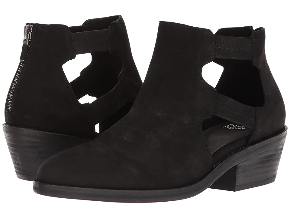 Eileen Fisher Vanda Cutout (Black Tumbled Nubuck) Women