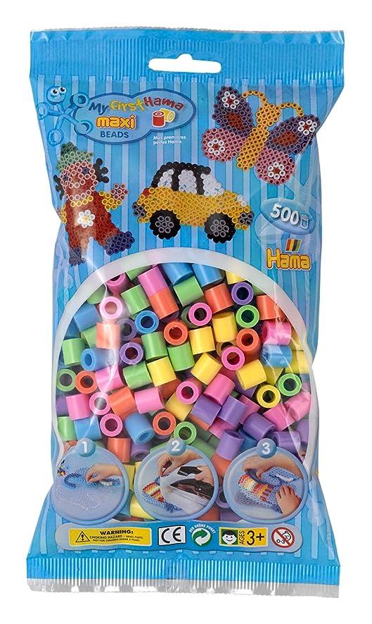 Hama Maxi Beads 500 Pastel Mix by