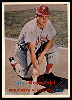Baseball MLB 1957 Topps #245 Rip Repulski EX Excellent Phillies