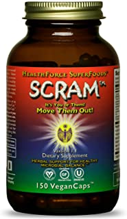 HealthForce SuperFoods Scram - 150 VeganCaps - Supports Intestinal Balance with Cloves, Black Walnut, Wormwood - Non-GMO, ...