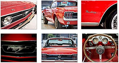 Car Love-Ford Mustang: Vintage Flash of a Beauty and All its Best Features. Set of 6 (8