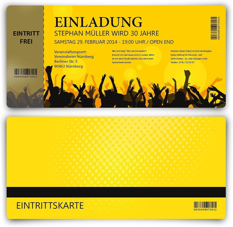 Einladungskarten zum Geburtstag (60 Stück) als Eintrittskarte Party Party Party Ticket Karte Einladung B00HODKZUQ   Am praktischsten  513701